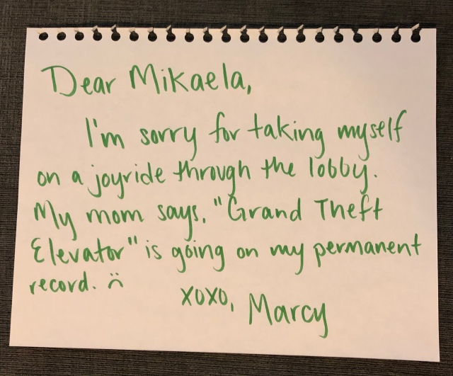 Marcy's Apology Letter